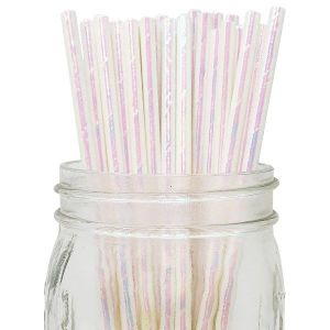 Pearlescent Party Straws (25)