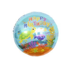 Under the Sea Birthday 18 inch Foil Balloon