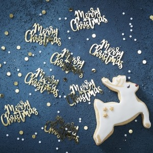 "Gold ""Merry Christmas"" Confetti (14g)"