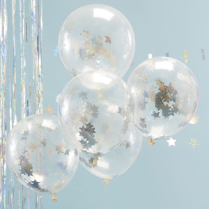 Jolly Good Vibes Holographic Star Confetti Balloons (5)