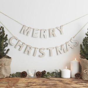 Rustic Christmas - Wooden Merry Christmas Bunting