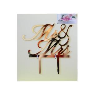 Gold Acrylic Mr & Mrs Cake Topper