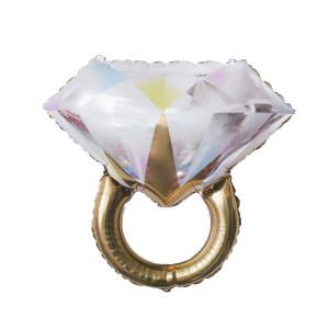 Gold Diamond Ring Foil Balloon 61x 68cm