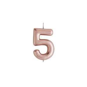 Rose Gold Candle Number 5