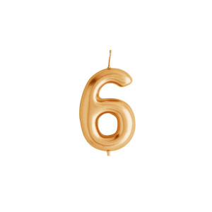 Gold Candle Number 6