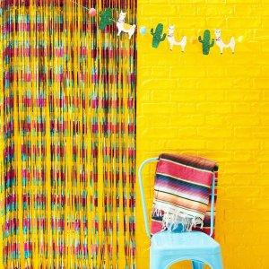 Viva La Fiesta Foil Curtain