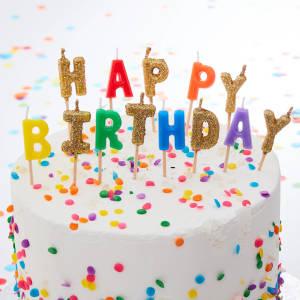 Over The Rainbow Happy Birthday Candles (13)