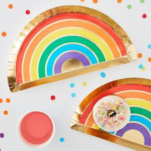 Over The Rainbow Rainbow Paper Plates (8)