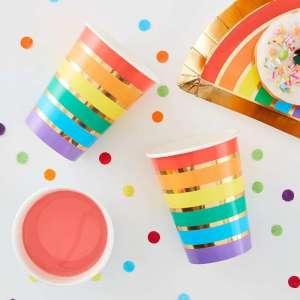 Over The Rainbow Rainbow Paper Cups (8)