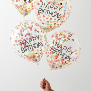 Over The Rainbow Happy Birthday Confetti Balloons (5)