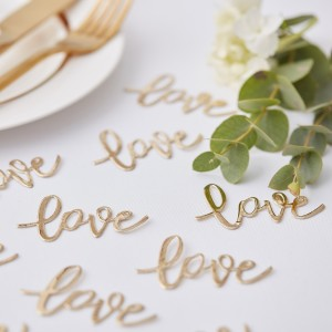 Gold Wedding Love Confetti (14g)