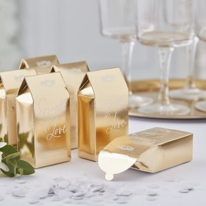 Gold Wedding Confetti Boxes (Each)