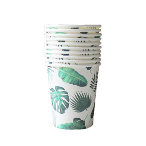 Tropical Jungle Leaves Paper Cups (10)