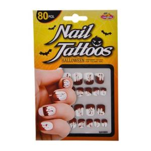 Halloween Bloody Nail Tattoos (80pce)