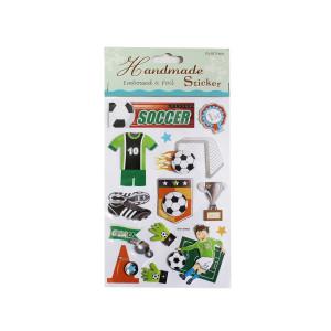 Super Soccer Embossed Sticker Sheet