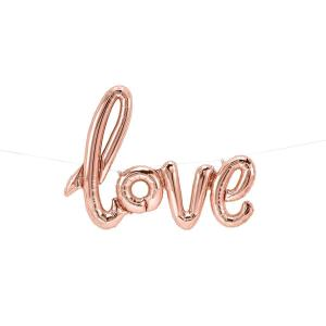 LOVE script foil balloon