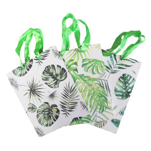 Tropical Jungle Leaves Paper Bag  each