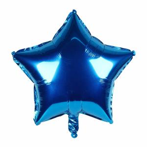 Metallic Blue Star Foil Balloon 18 inch