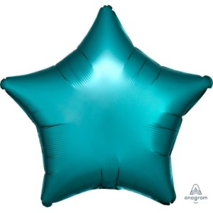 Satin Luxe Jade Star Foil Balloon 18 inch