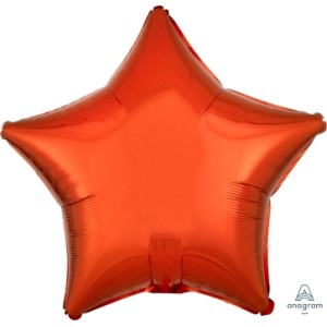 Orange Star Foil Balloon 18 inch