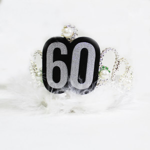 Silver Furry Tiara with Pearls 60th