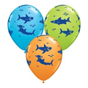 Sharks Print Latex Balloons (5)