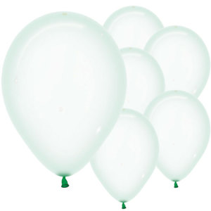 Pastel Green Crystal Balloons (5)