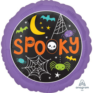 Spooky Spiders and Web Foil Balloon 18 inch
