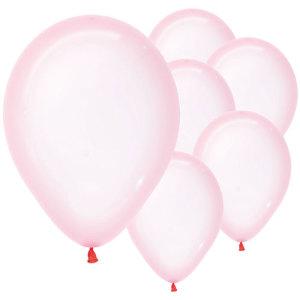 Pastel Pink Crystal Balloons (5)