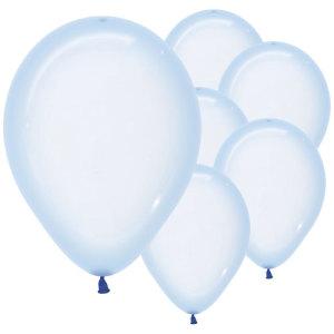 Pastel Blue Crystal Balloons (5)
