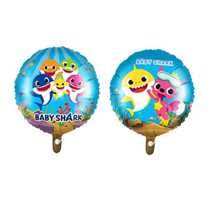 Baby Shark Foil Balloon Round