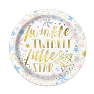 Twinkle Twinkle Little Star Lunch Plates (8)