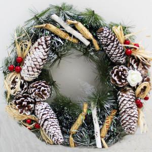 Pinecone Ivy Wreath