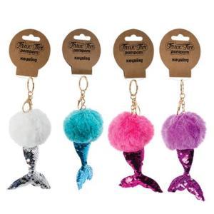 Mermaid Fluffy Keychain (1)