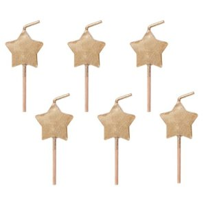 Twinkle Twinkle Little Star Gold Star Candles