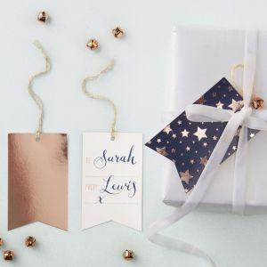 Metallic Star Navy and Rose Gold Tag Kit (8)