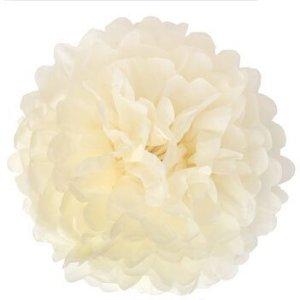 Ivory Tissue Paper Pom Pom (20cm)