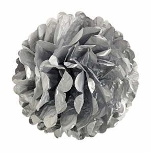 Silver Tissue Paper Pom Pom (30cm)