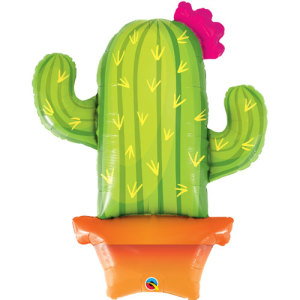 Happy Little Potted Cactus Super Shape Balloon