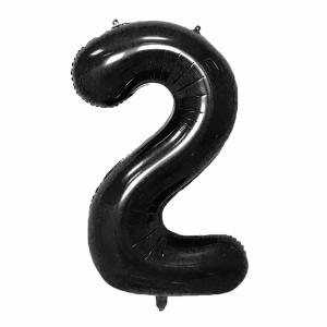 Black Foil Balloon Number 2 (42 inch)