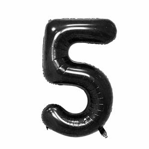 Black Foil Balloon Number 5 (42 inch)