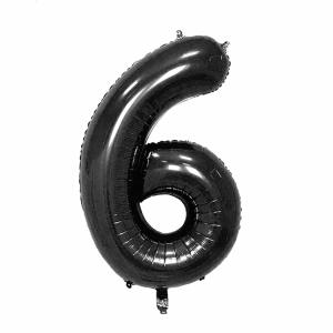 Black Foil Balloon Number 6 (42 inch)