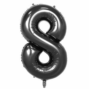 Black Foil Balloon Number 8 (42 inch)