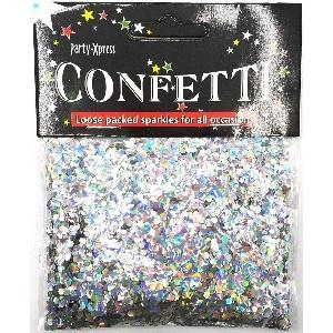 Silver Iridescent 2mm Balloon Confetti