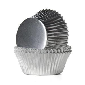 Silver Metallic Cupcake Cases 12cm (100)