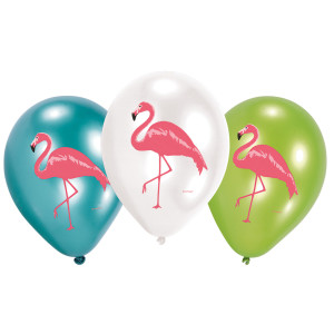 Flamingo Paradise Latex Balloons (6)