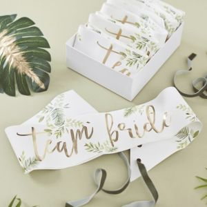 Botanical Bachelorette Gold Foiled Sashes (6)