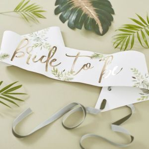 Botanical Bachelorette Bride To Be Sash