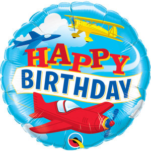 Flying High Birthday Planes Foil Balloon