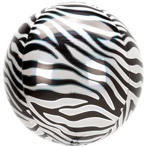Zebra Print Orb Balloon